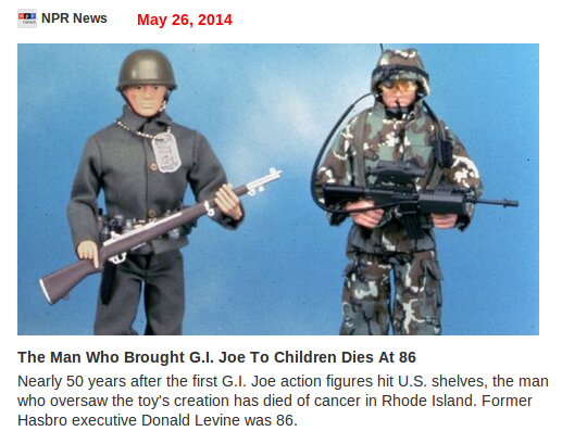 GI Joe Cteator Dies