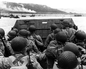 D-Day Coming Ashore