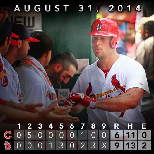 Cards first Matt Holliday 8-31-2014