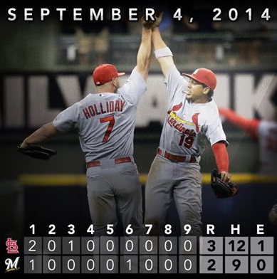 Cards Win 9-4-2014