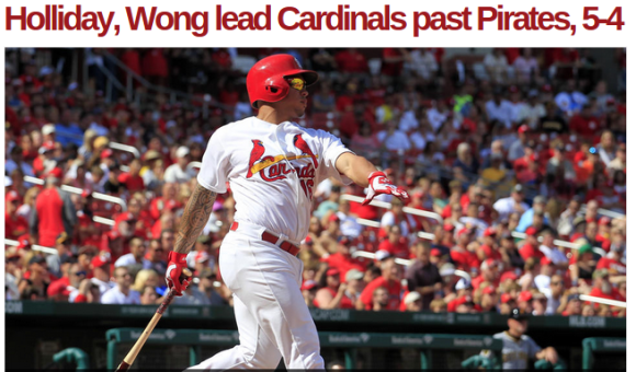 Cards in First Place 9-1-2014