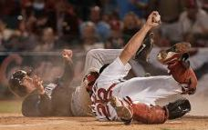 Mike Matheny Catching Home Plate Play