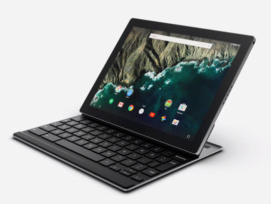 Pixel C Docked with Keyboard