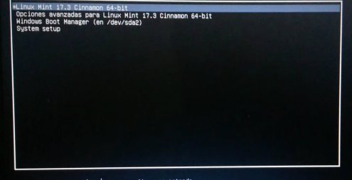 grub-boot screen