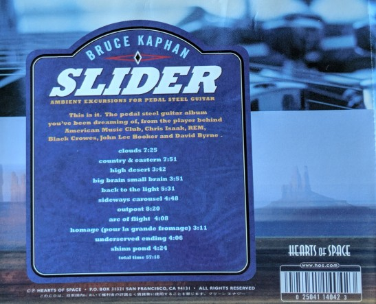 Slider - Back Side CD